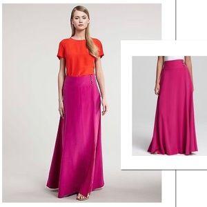 Tory Burch 100% Silk Maxi Skirt